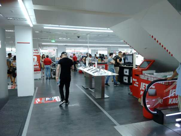 Media Markt Colonia: lo stand della Samsung